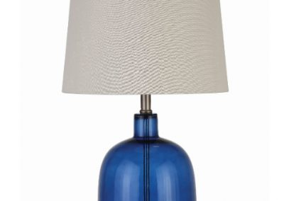 Transitional Blue Glass Table Lamp