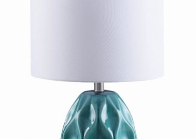 Transitional Teal Blue Table Lamp