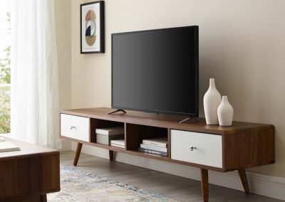 Walnut TV Stand Media Console 1966