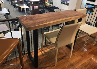 Walnut and Metal Legs Home Office Desk