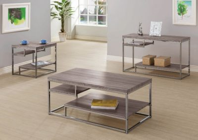 Weathered Grey Coffee Table Set