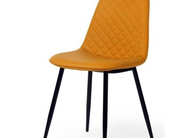 Yellow Diamond Tufted Dining Chair
